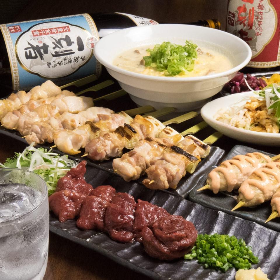 酉一途 西新宿店の【馬刺しと大和肉鶏の焼き鳥コース】